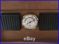 Vintage Hygrometer HUMIDOR Box Desktop OLD CIGARS INCLUDED