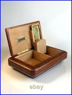 Vintage Leather Italian Cigarette Box
