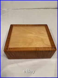 Vintage Michael Dixon Cigar Humidor Wooden Box