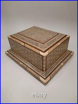 Vintage, Old, Rare, Antique, Handmade Humidor with Wood, Cigar Boxes, 40 Cigar