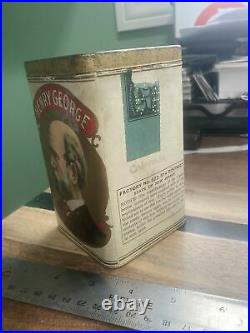 Vintage Rare Henry George Tobacco Tin Cigar Box Humidor New Jersey Paper Label