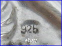 Vintage Sterling Silver Top & Wood 8 X 5 Cigar Humidor Box