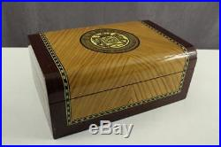 Vintage Tobacco Wood Lacquered Cigar Humidor FLAMENCO LAS PALMAS Box