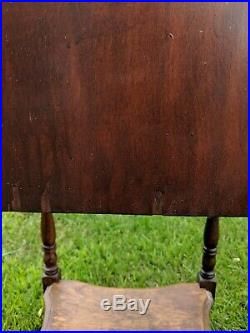 Vintage Wooden Humidor Cabinet Smoking Stand Pipe Cigar Box Antique Swan Pond