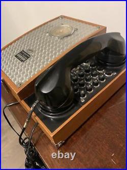 Vintage humidor cigar box & Telephone