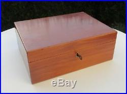 Vintage wooden Humidor Dunhill Paris Cigar box case with key